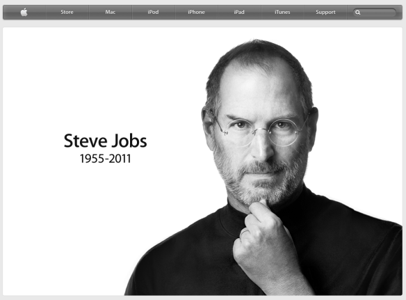 Apple's website pays tribute to Steve Jobs this week.