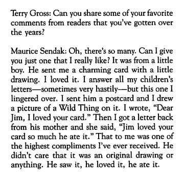 Maurice Sendak quote