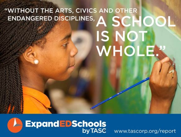 Without the arts, civics and other endangered disciplines, a school is not whole.